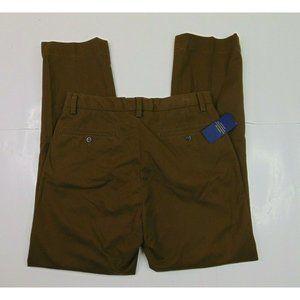 NEW Polo Ralph Lauren Men 30 x 30 Classic Chino Pants Brown Cotton Stretch